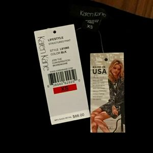 Karen Kane Womens Black Knit Flat Front Pants